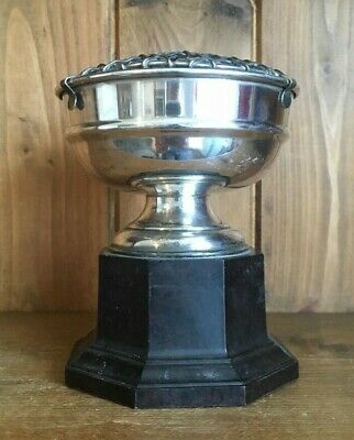 NOT ENGRAVED Vintage silver plate trophy. loving cup, trophies, trophy