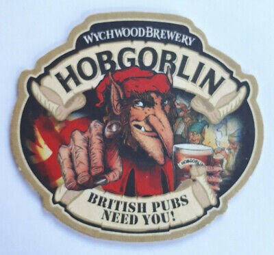 WYCHWOOD BREWERY HOBGOBLIN NEW BRITISH PUBS NEED YOU MP BEER MATS X 2 DISPLAY