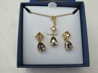 NIB 2010 Swarovski Crystal Necklace & Earring set- Authenticity papers