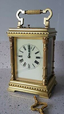 Antique Ornate Case Repeater Four Glass Carriage Clock