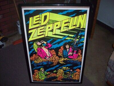 Led Zeppelin 23X35 Beautiful Flocked Blacklight Poster Print