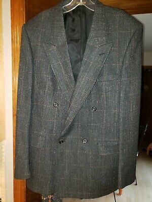 EVAN PICONE for Ivey's Vintage Double Breasted Men's 42L Wool Jacket Sports Coat