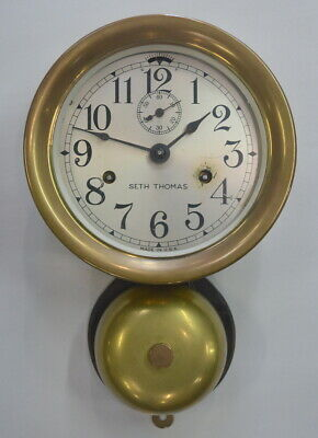 Antique Seth Thomas Lever Bottom Bell Ships Clock