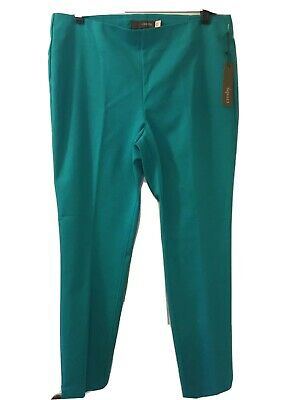 Crosby, sz 12 X 29 inseam, women's Emerald turquoise mid-rise pull-on crop pants