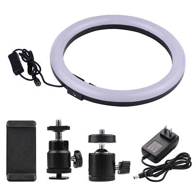 LED Ring Light Dimmable 5500K Lamp Photography Camera Studio Phone Video F1H5
