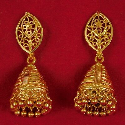 ShoppingHUB Get Closer Indian Designer CZ Stone Wedding Goldplated Traditional Earrings Fashion Jewelry
