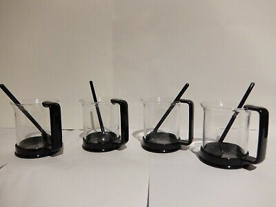 Bodum ~ 4 Matching Latte Glasses With Spoons - Value!!