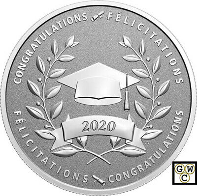 2020'Congrat. on your Graduation' Prf $10Fine Silver 1/2oz.Coin(RCM 175999)18908
