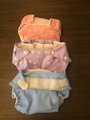 Cloth Diapers Lot/3 Fuzzi Buns, Bum Genius, Happy Heiny's Breast Cancer Support