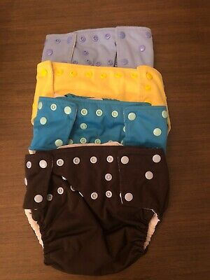 Cloth Diapers One Size Lot/4 Gender Neutral Snaps Pocket