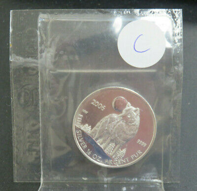 2006 $1 Canada Timber Wolf 1//2 oz .999 Fine Silver Coin Mint Sealed NO SPOTTING