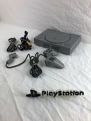 Sony PlayStation PS1 Gray Console System Controller SCPH-5501 30 Day Warranty
