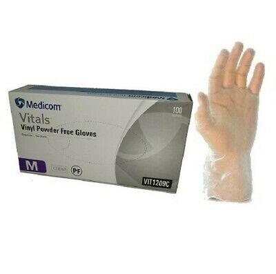 Vinyl Gloves Medicom Vitals Powdered Single Use  Size S, M, L