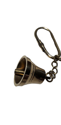 Nautical Vintage Anchor Brass Key Chain Bell Key Ring Hanging Bell (Set Of 2)