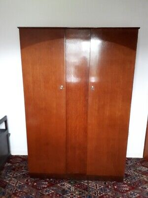 Lebus Retro double  Wardrobe, teak, two door, with brass locks