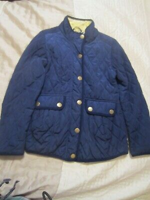 NEXT Girls Navy Quilted Shower Resistant Jacket Age 11-12 yrs, VGC