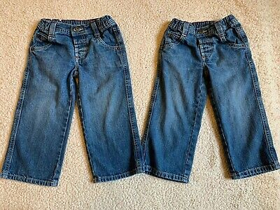 MARKS & SPENCER Boys 2 Pairs Of Blue Jeans Age 2-3 Years Great Condition
