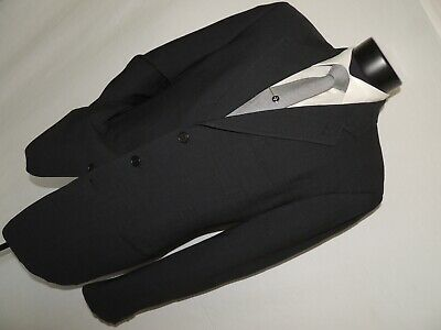 Black label Giorgio Armani men's Silk & Wool jacket coat 42 Long