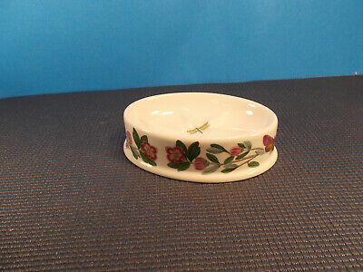 "Portmeirion China Botanic Garden Oval Soap Dish Rhododendron 5 5/8"" x 3 5/8"""