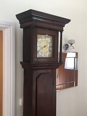 Antique Oak Long Case 30 Hour Clock. Original. Circa 1740s