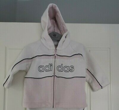 Baby Girls Adidas Hoodie Hooded Jacket Age 6-9 Mths
