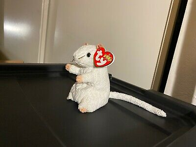MWMT 5 Inch Ty Beanie Baby ~ CHEEZER the White Mouse