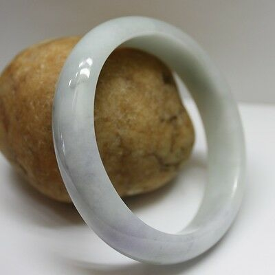 100% Natural JADE CERTIFIED Grade A Fine Lavender Jadeite OVAL Bangle 56mm&49mm