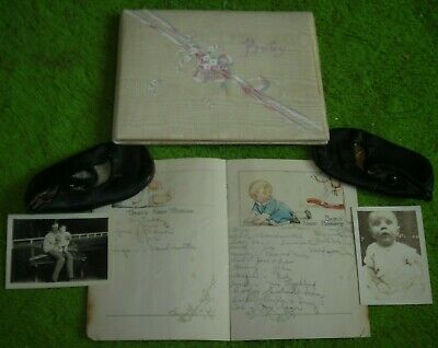 1925 Baby Shoes & Baby Book, Booklet & Photos
