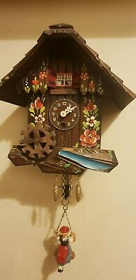Vintage black forest cuckoo clock unusual!Spair and repairs!