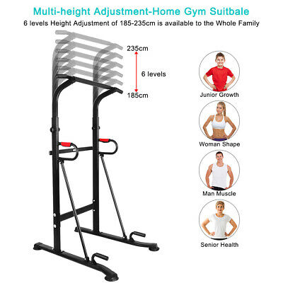 OneTwoFit Power Tower Dip Station Pull Push Chin Up Bar Gym Fitness Core OT130