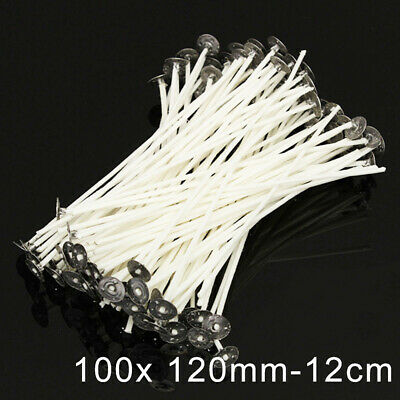 100 X 120mm-12cm Pre Waxed Tealights Wicks For Candle Making With Sustainers