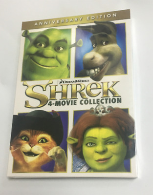 Shrek 1 2 3 4 Forever After Movie Collection 2016 Anniversary Edition New DVDs