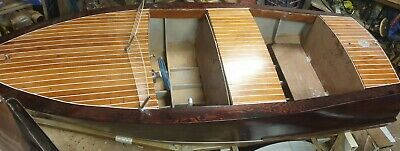 Kids wooden boat frame. Ready to assemble plywood kit.
