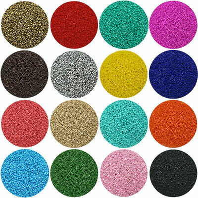 Pack of 2500pcs Economical 11/0 Rocaille 1.8mm Small Round Glass Seed Beads DIY