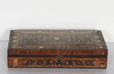 Hand-Carved Wooden Box with Inlay work