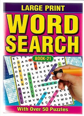 2 A4 Word Search Books Large Print 59 Puzzles In Each White Pages Books 21-22