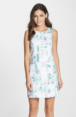 NWT Lilly Pulitzer Cecily Shift Coastal Kiss Cut-In Back sz 8 PRETTY!