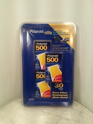 POLAROID 500 Instant Film 3 Pack 10 Photos Exp 8/00 Total 30 New Sealed Joycam