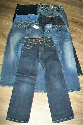 Lot of 7 pairs of boys trousers/jeans.8 y,8/9 y.Next,Levi`s,H&M,George.Used.