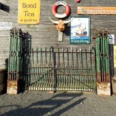 Large Victorian Cast/Wrought Iron Driveway Gates