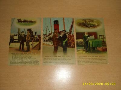 Ww1  Bamforth Song Cards -Your Dear Old Dad Was Irish 4798 Vintage Postcards