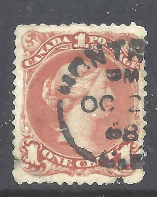 Canada 1 Cent Brown Red Large Queen Scott 22 Used (Bs13494)