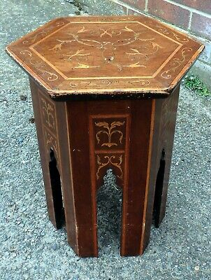 Victorian antique Liberty & Co. Arts & Crafts Moorish Islamic side lamp table