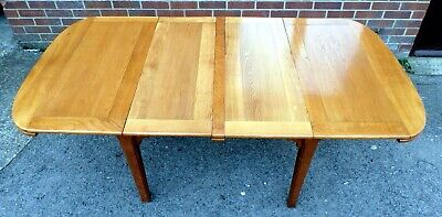 Large Art Deco antique solid golden oak extending kitchen dining table seats 8