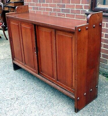 Victorian antique Arts & Crafts country house solid teak filing estate cabinet