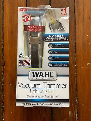 Wahl Lithium Ion Vacuum Trimmer Kit Model #9870 NEW