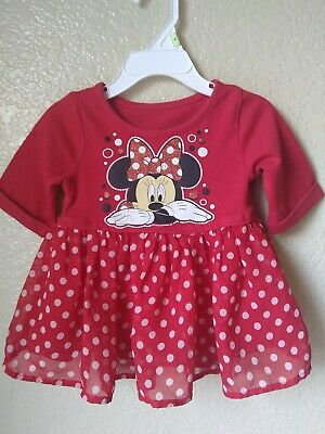 Disney Girls Red Minnie Mouse Top Polka Dot Skirt Size 2t