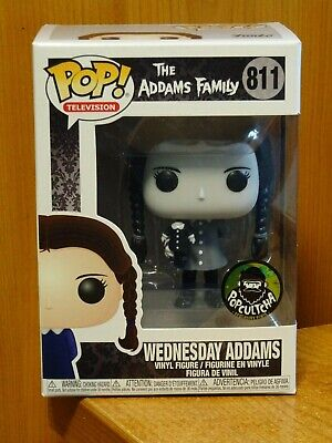 Funko Pop! 811 Wednesday Adams - EXCLUSIVE Black & White - The Addams Family NEW