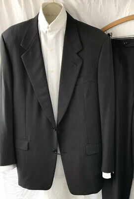 Canali Proposta Mens 2 Button Wool Suit  IUS42 Long Inverted Pleat Slacks 36/32