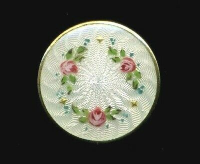 B'ful Antique Button…Marked David Andersen Norway...Guilloche Enamel on Sterling